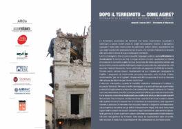 Dopo il terremoto… come agire? Giornata di lavoro sui recenti eventi sismici